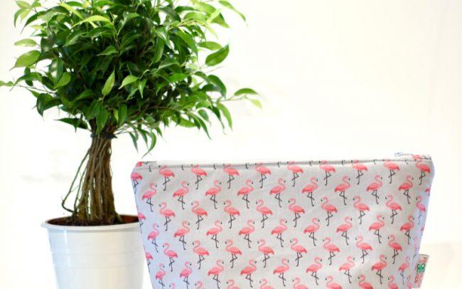 Kulturbeutel Flamingos