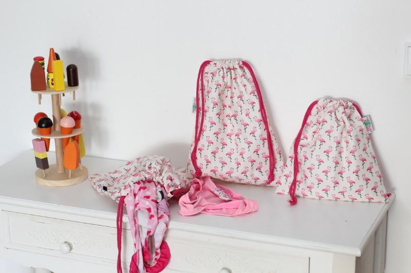 groß Badebeutel Flamingos Schwimmbeutel Pink 3 Stück Totale nicht zum Wenden