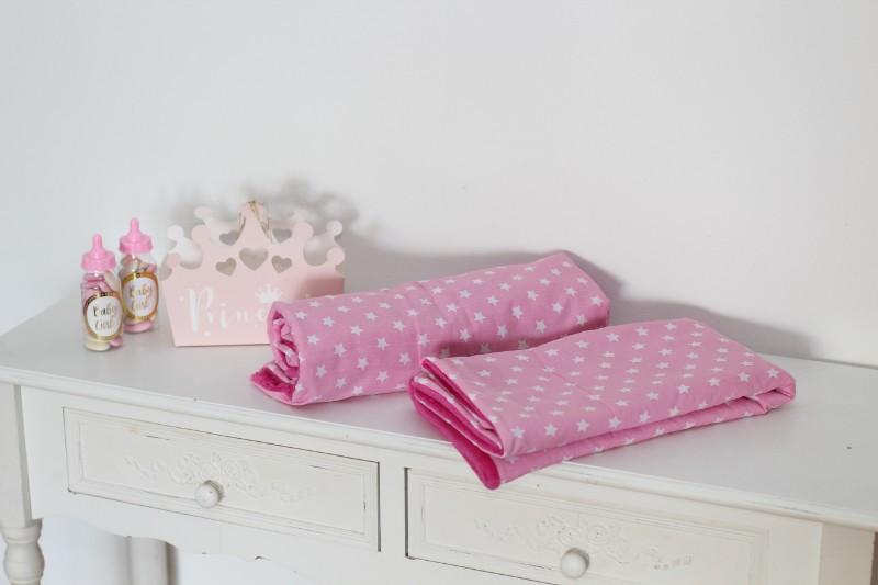 Babydecke Sterne rosa pink