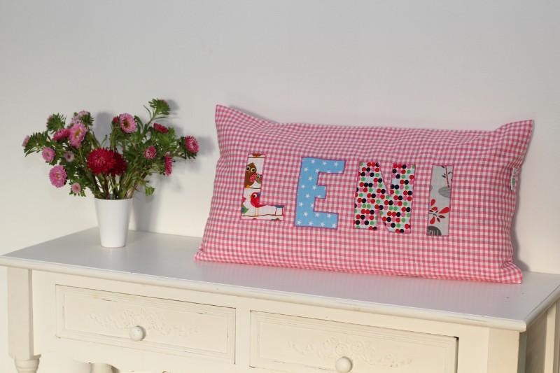 Kissen Baby LENI kartiert rosa pink