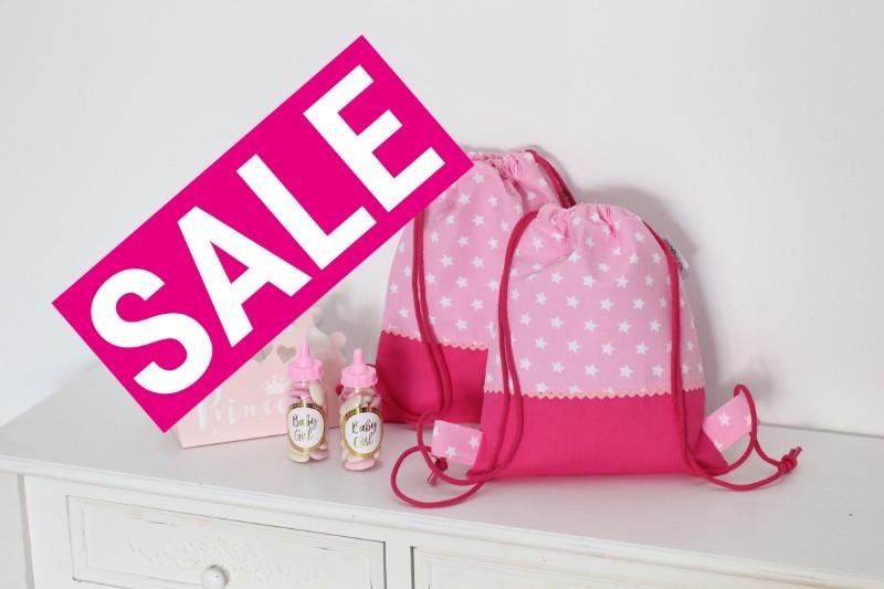 Sale Pink rosa Sterne Kinderruckack Turnbeutel