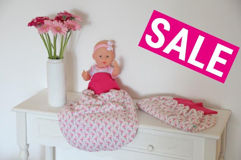 Sale Pucksack Schlafsack Strampelsack Flamingos beige rosa
