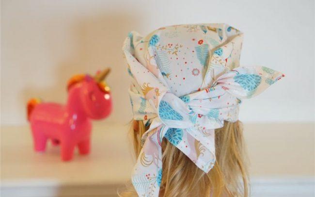 Tuch Kopftuch Einhorn Einhörner Regenbogen Prinzessin Schloss Weiß