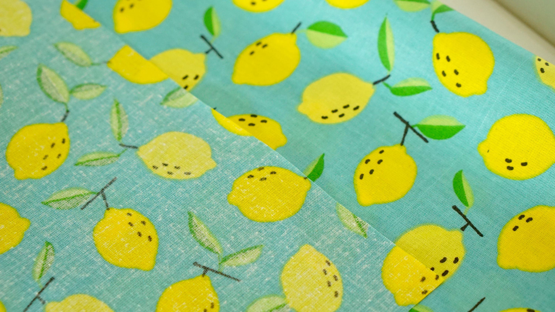 Beschichtete Baumwolle Zitronen Auf Blau 0134 Froehlich