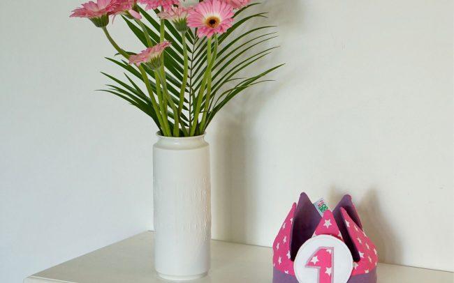 Krone pinke Sterne lila 1. Geburtstag 2. Birthday